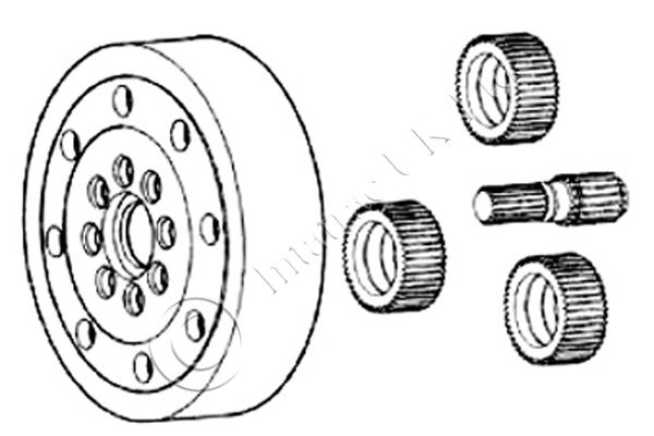 Front Axle Planetery Kit with bearing – APL 335 – 81318C1
